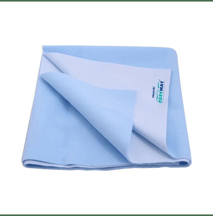 Newnik Cozymat, Dry Sheet (Size: 140cm X 220cm) Single Bed Sky Blue