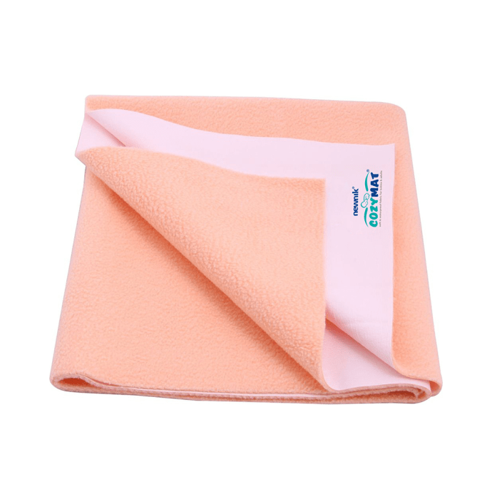 Newnik Cozymat, Dry Sheet (Size: 140cm X 100cm) Large Peach