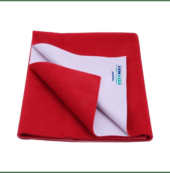 Newnik Cozymat, Dry Sheet, Waterproof, Reusable Mat / Underpad / Absorbent Sheet / Mattress Protector (Size: 70cm X 100cm) Medium Cherry Red