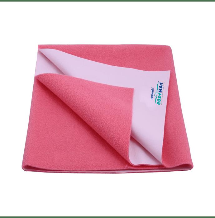 Newnik Cozymat, Dry Sheet, Waterproof, Reusable Mat / Underpad / Absorbent Sheet / Mattress Protector (Size: 70cm X 50cm) Small Salmon Rose