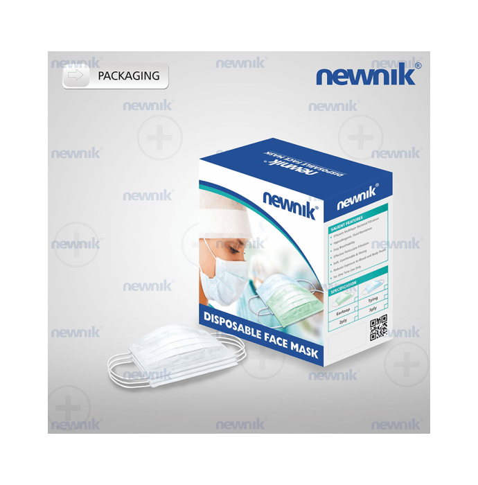 Newnik Disposable Elastic Face Mask 2PLY White