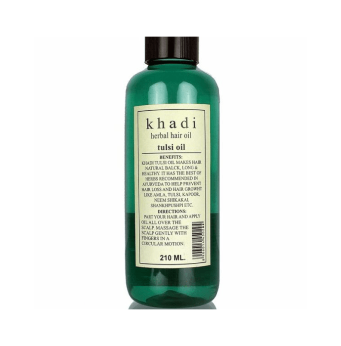Khadi Herbal Tulsi Hair Oil Pack of 2