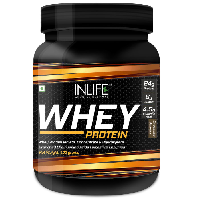 Inlife Whey Protein Powder with Isolate Concentrate Hydrolysate & Digestive Enzymes Chocolate