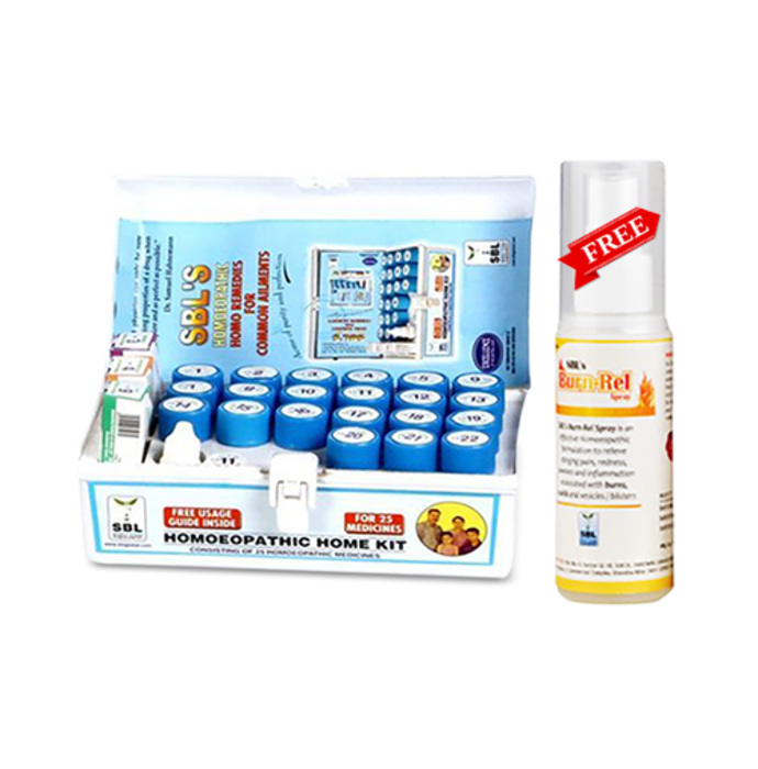 SBL Homoeopathic Home Kit With Free Burn-Rel Spray