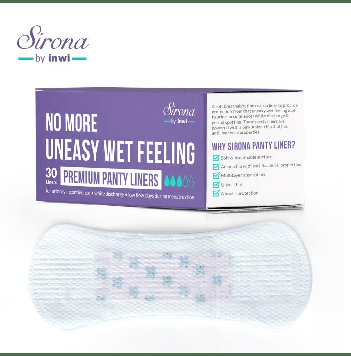 Sirona Ultra-Thin Premium Panty Liners (Regular Flow)