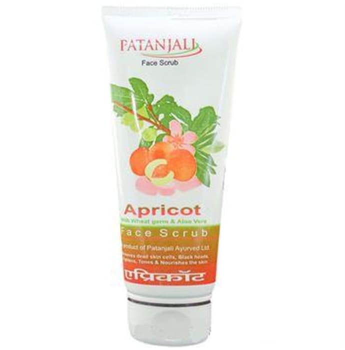 Patanjali Ayurveda Apricot Scrub with Wheat Germ and Aloe Vera Pack of 7