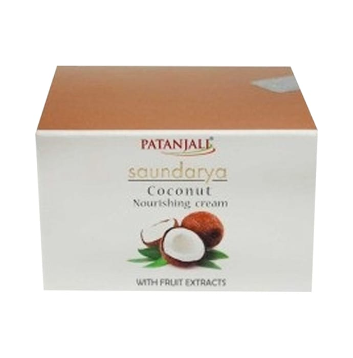 Patanjali Ayurveda Saundarya Coconut Nourishing Cream Pack of 6
