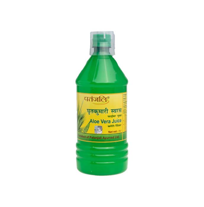 Patanjali Ayurveda Aloe Vera Juice with Fiber Pack of 2