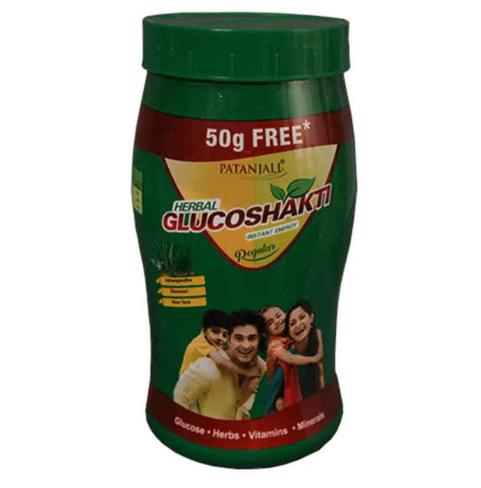 Patanjali Ayurveda Herbal Glucoshakti (500+50) Gm Regular Pack of 4