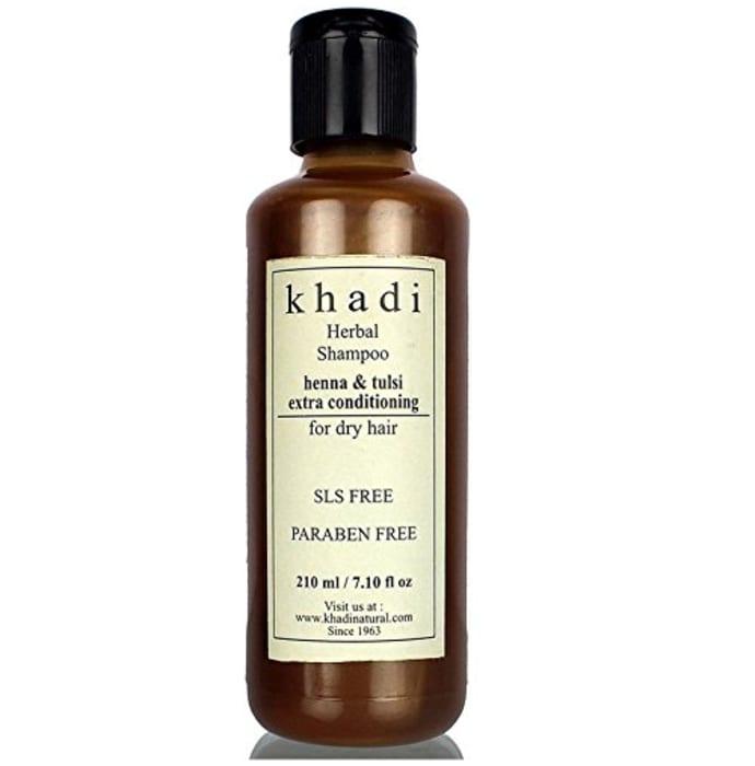Khadi Herbal Henna & Tulsi Extra Conditining SLS Paraben Free Shampoo