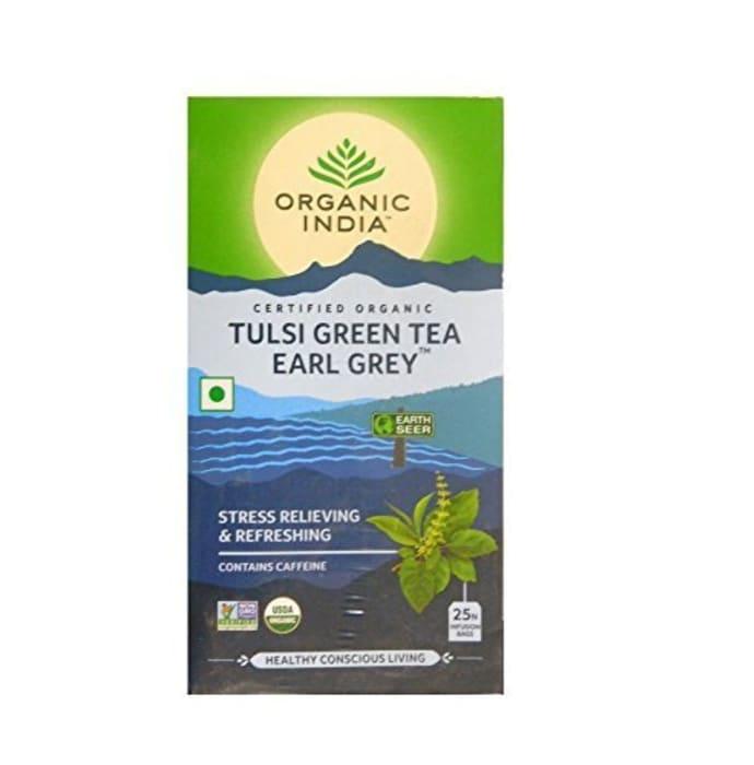Organic India Tulsi Green Tea Earl Grey