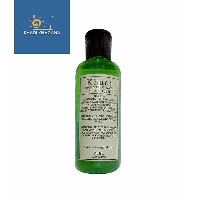 Khadi Herbal Neem & Tulsi Face and Body Wash