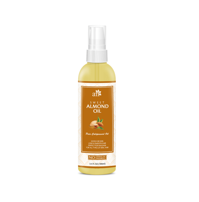 AromaMusk 100% Pure Cold Pressed Sweet Almond Oil