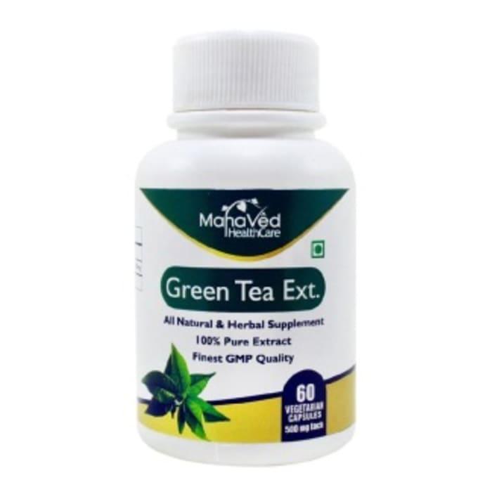 MahaVed Green Tea Extract Vegetarian Capsule