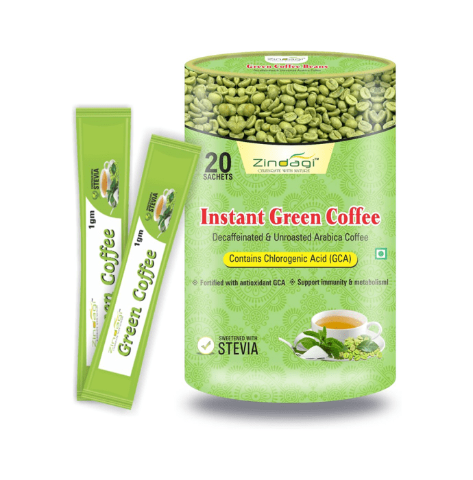 Zindagi Instant Green Coffee Powder (1 gm Each) Pack of 2