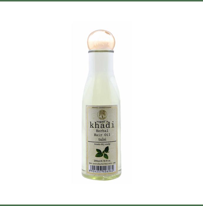 Vagad's Khadi Tulsi Herbal Hair Oil