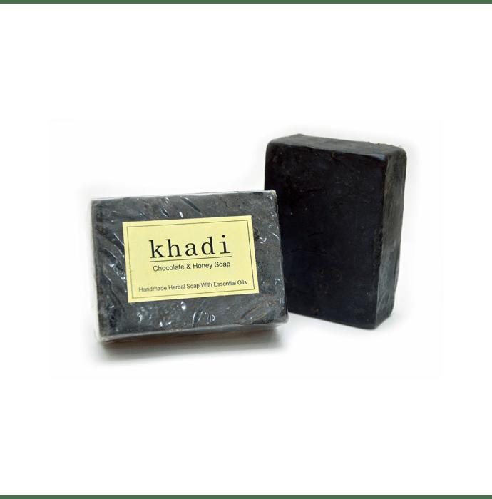 Vagad's Khadi Chocolate and Honey Soap Pack of 2