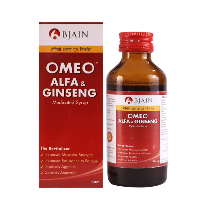 Bjain Omeo Alfa & Ginseng Syrup Pack of 2