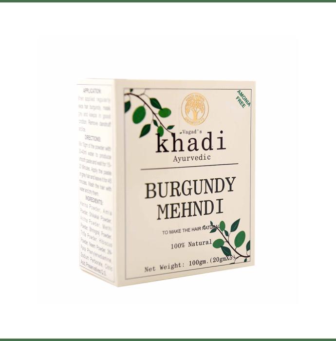 Vagad's Khadi Mehndi Powder Burgundy