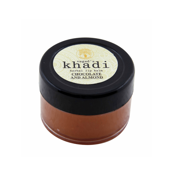 Vagad's Khadi Herbal Chocolate and Almond Lip Balm Pack of 2