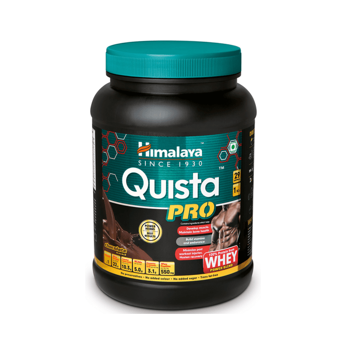 Himalaya Quista Pro Advanced Whey Protein Powder Fortified with Power Herbs Chocolate