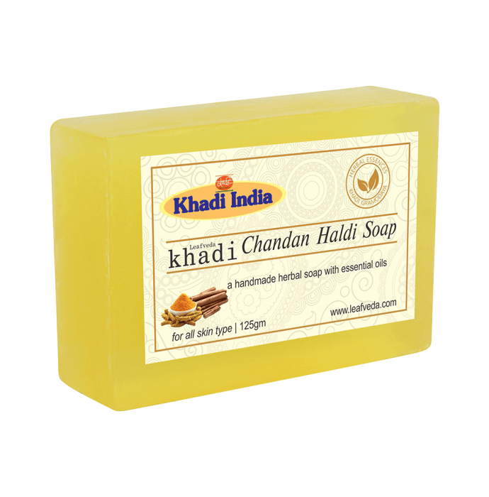 Khadi Leafveda Chandan Haldi Soap Pack of 2