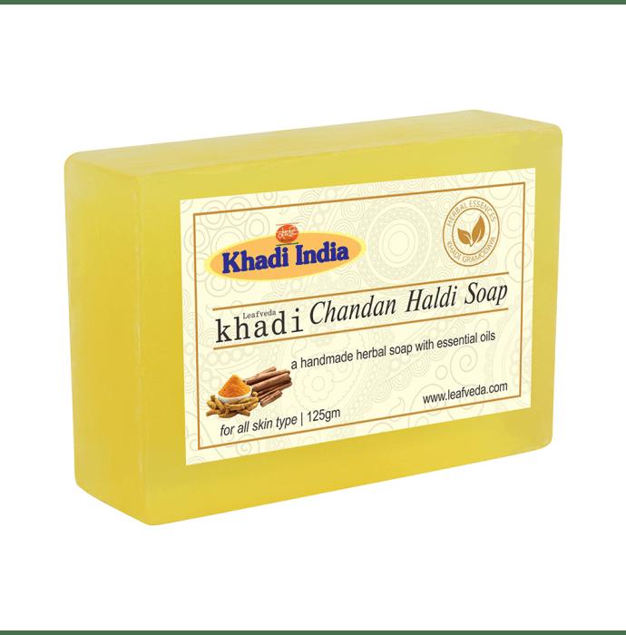 Khadi Leafveda Chandan Haldi Soap