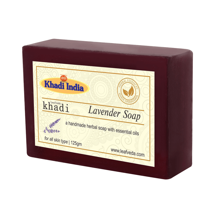 Khadi Leafveda Lavender Soap Pack of 2