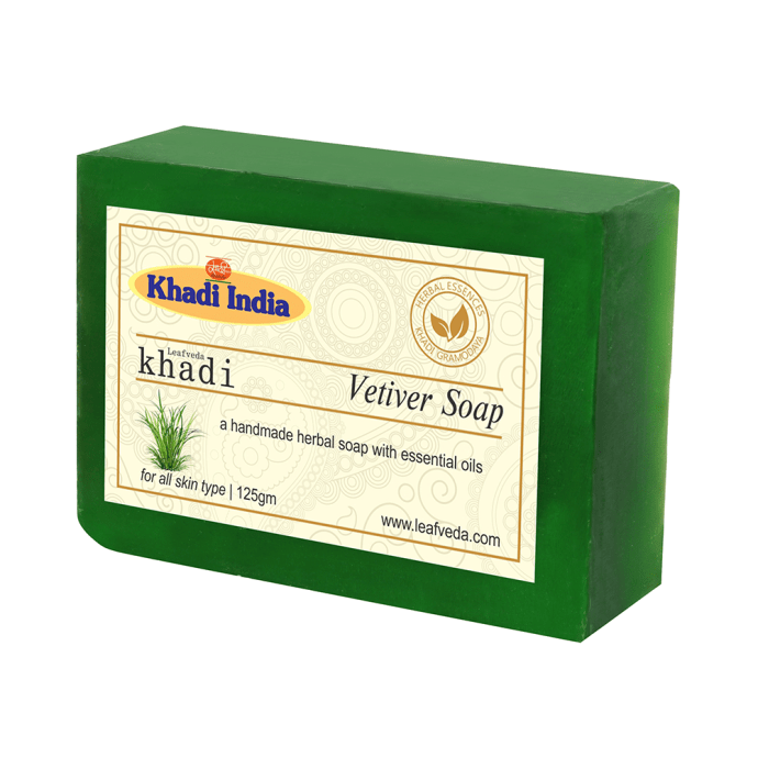 Khadi Leafveda Vetiver Soap Pack of 2