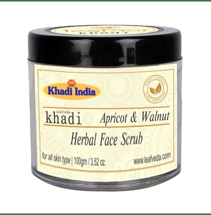 Khadi Leafveda Apricot & Walnut Herbal Face Scrub