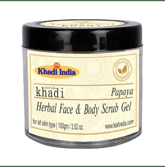 Khadi Leafveda Papaya Face & Body Scrub Gel