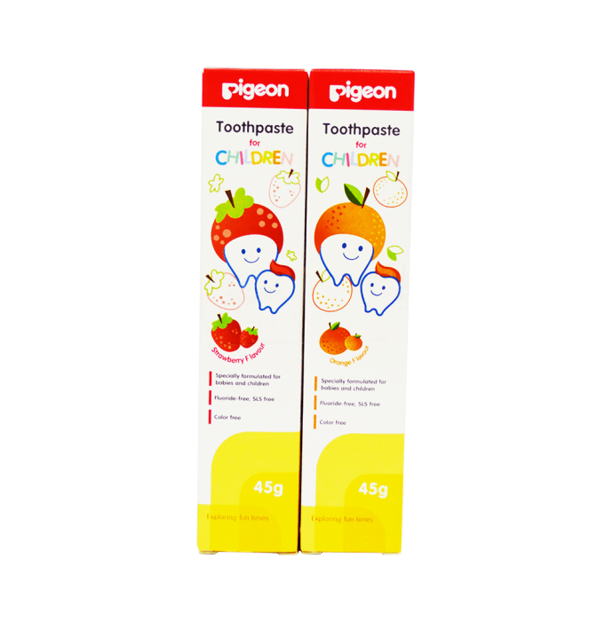 Pigeon Strawberry and Orange Toothpaste Combo Pack (45g each)