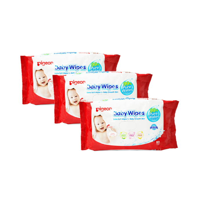 Pigeon Baby Wipes Water Base Pack of 3