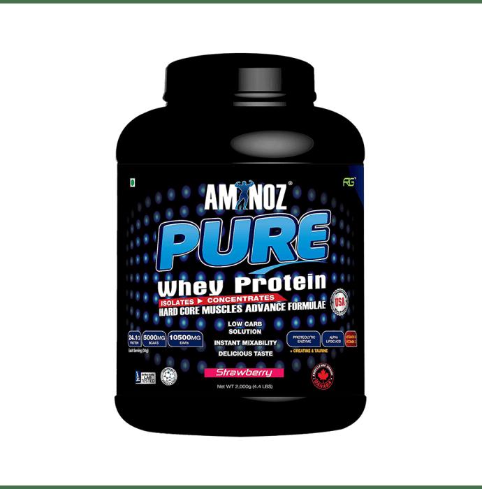 Aminoz Pure Whey Protein Powder Strawberry