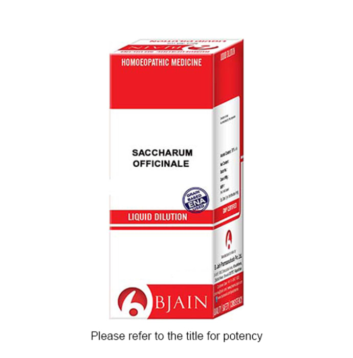 Bjain Saccharum Officinale Dilution 1000 CH