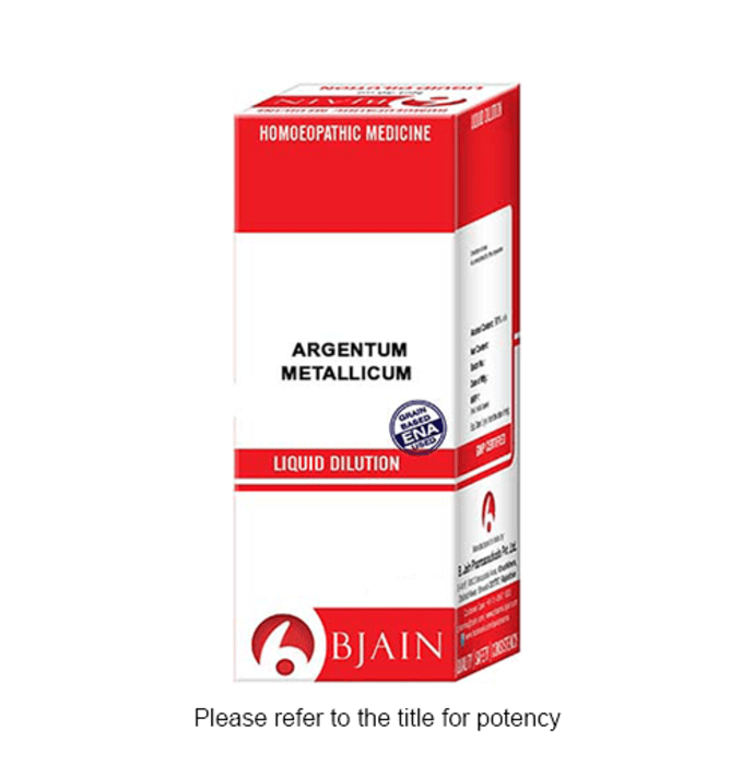 Bjain Argentum Metallicum Dilution 10M CH