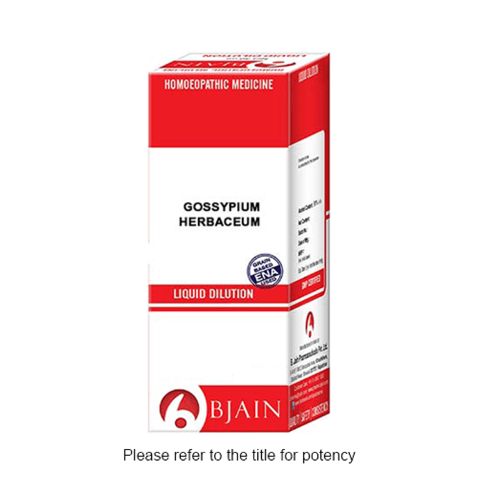 Bjain Gossypium Herbaceum Dilution 1000 CH