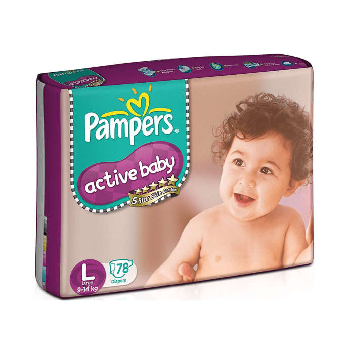 Pampers Active Baby Diaper L