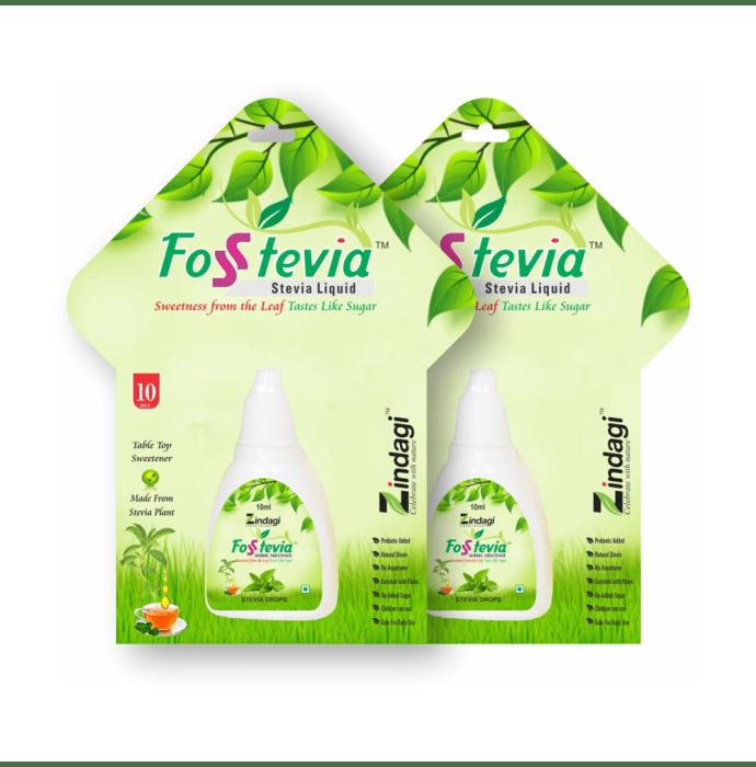 Zindagi Fosstevia - Stevia Liquid Pack of 2