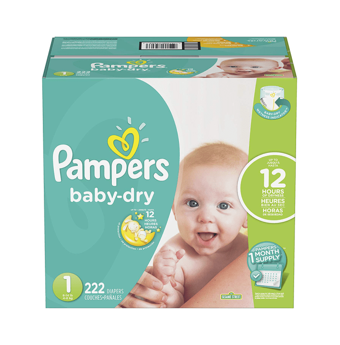 Pampers Baby Dry Diaper Size 1