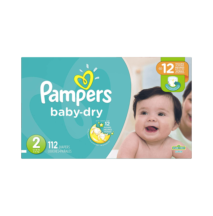 Pampers Baby Dry Diaper Size 2
