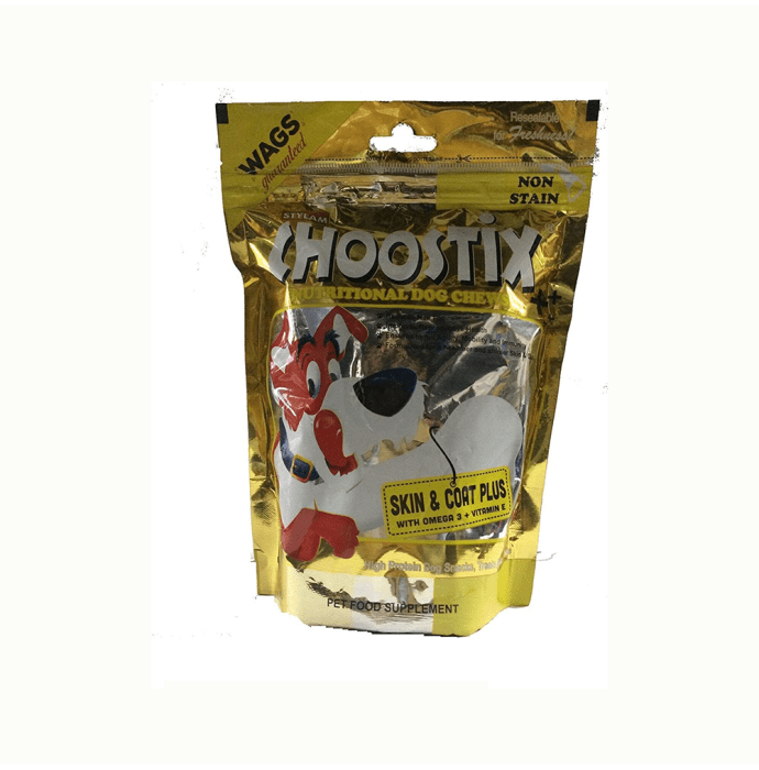 Choostix Skin and Coat Plus Dog Treat Pack of 2