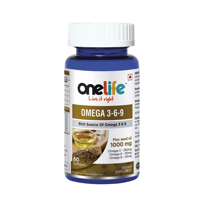 OneLife Omega 3-6-9 Softgels