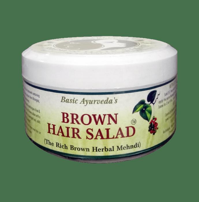 Basic Ayurveda Brown Hair Salad (Herbal Mehndi)