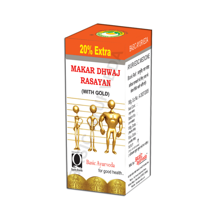 Basic Ayurveda Makar Dhwaj Rasayan Pack of 2