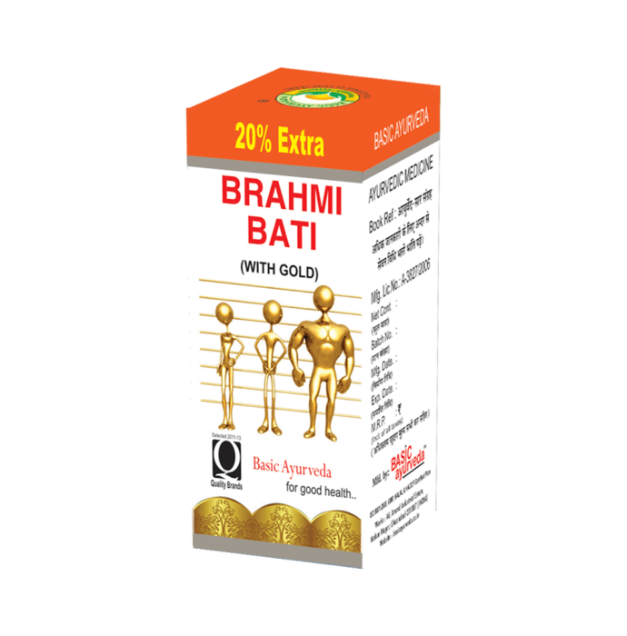 Basic Ayurveda Brahmi Bati with Gold