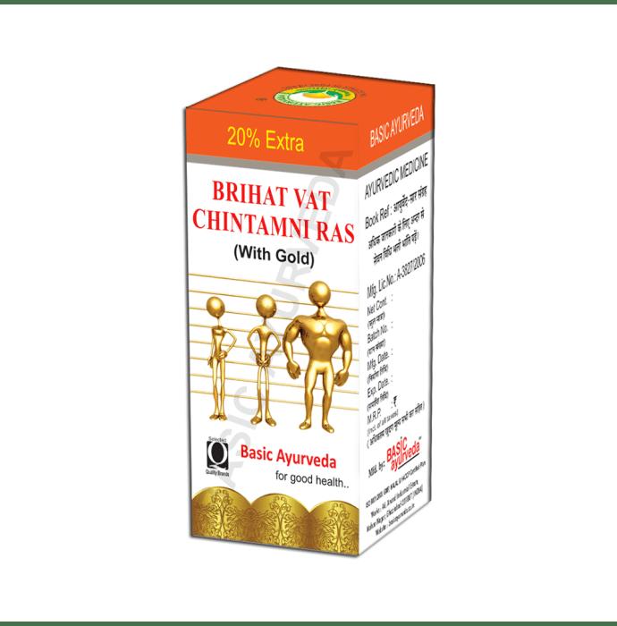 Basic Ayurveda Brihat Vat Chintamani Ras with Gold