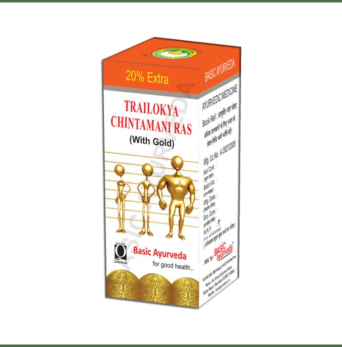 Basic Ayurveda Trailokya Chintamani Ras with Gold