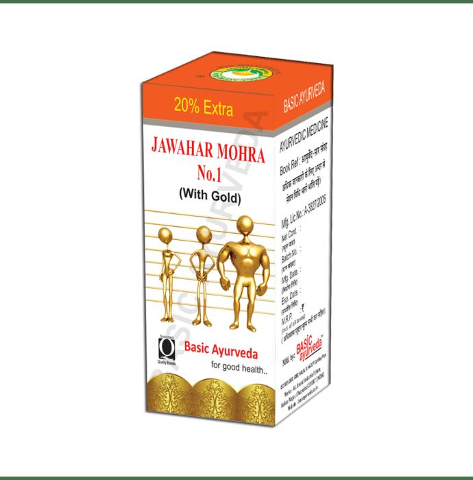 Basic Ayurveda Jawahar Mohra No. 1 with Gold