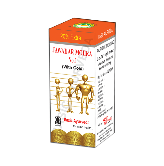 Basic Ayurveda Jawahar Mohra No. 1 with Gold